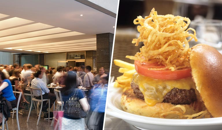 Private Events at The Beer Bar | Dining Area | Cheeseburger & Fries