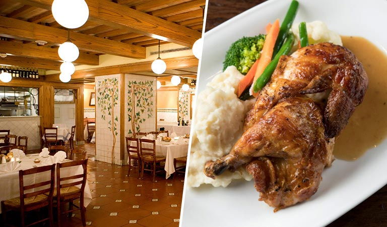 Private Events at Cucina & Co. | Dining Room area | Chicken dinner