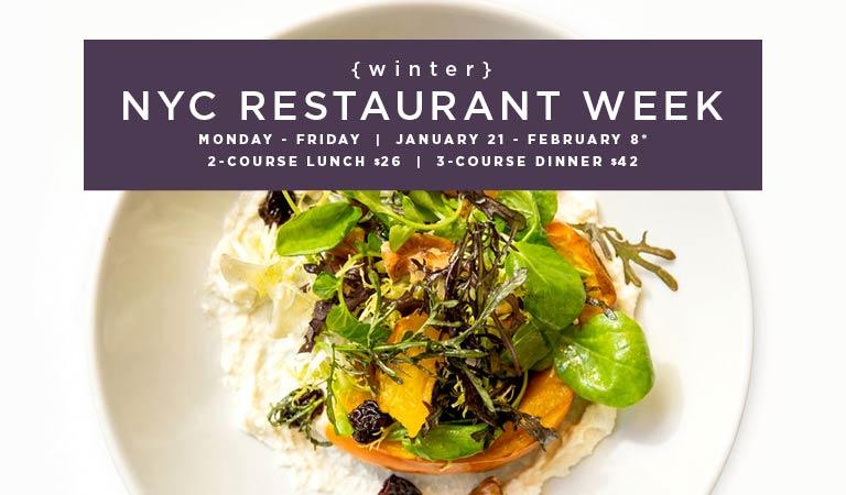 View menus & reserve for New York City Restaurant Week | Winter 2019 | January 21-February 8