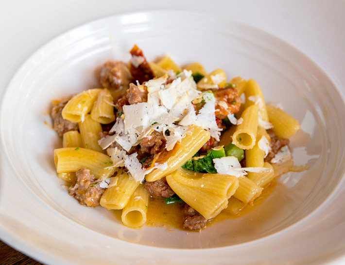 Rigatoni pasta  served at Lincoln Ristorante in NYC