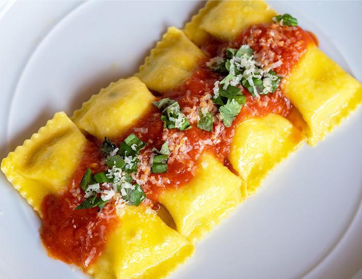 Ravioli entrée served at Lincoln Ristorante in NYC