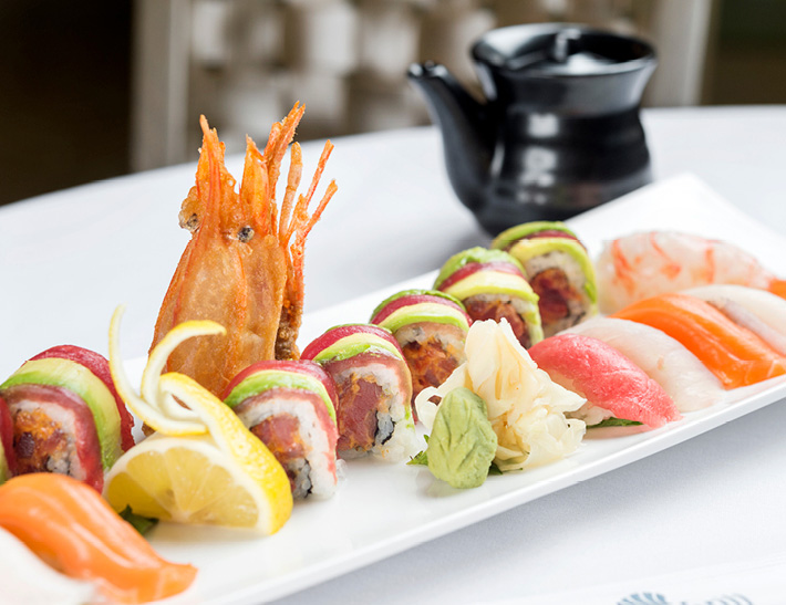 Sushi served at The Sea Grill in NYC
