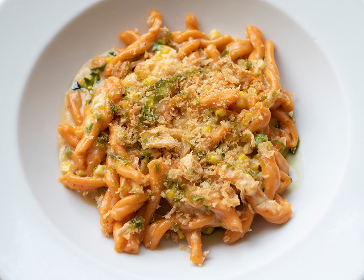 Pasta entrée served at Stella 34 Trattoria in NYC