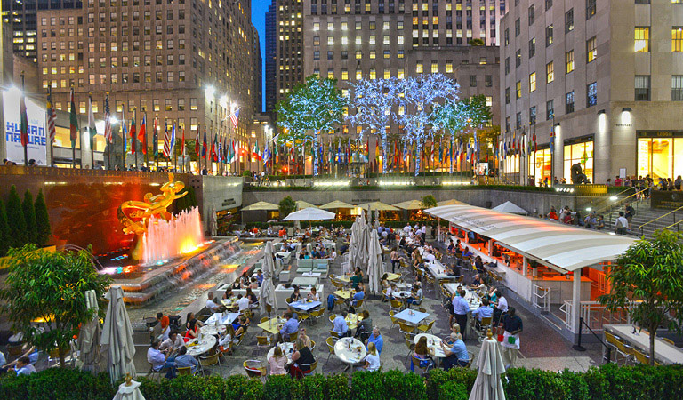 Summer Garden & Bar event space at Rockefeller Center