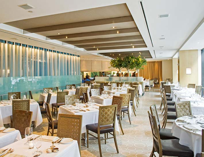 The Sea Grill dining room interior, Rockefeller Center Restaurant for Thanksgiving