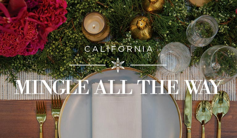 Mingle All the Way, Holiday Planning California