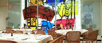 Brasserie 8.5 dining room, New York City Restaurant