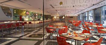 La Fonda Del Sol dining room, tapas-inspired, Spanish culinary experience, NYC