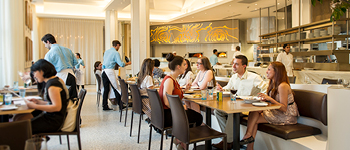 Stella 34 dining room, Macy's Herald Square restaurant