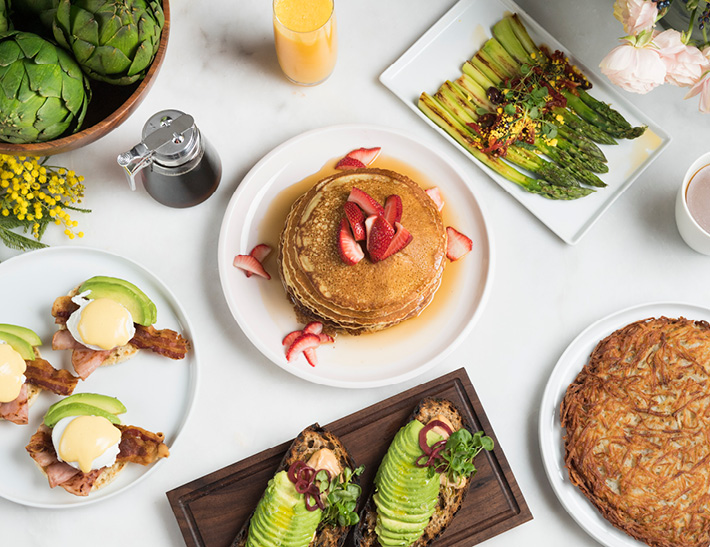 Breakfast food spread | Easter Brunch at Maple Restaurant, Descanso Gardens