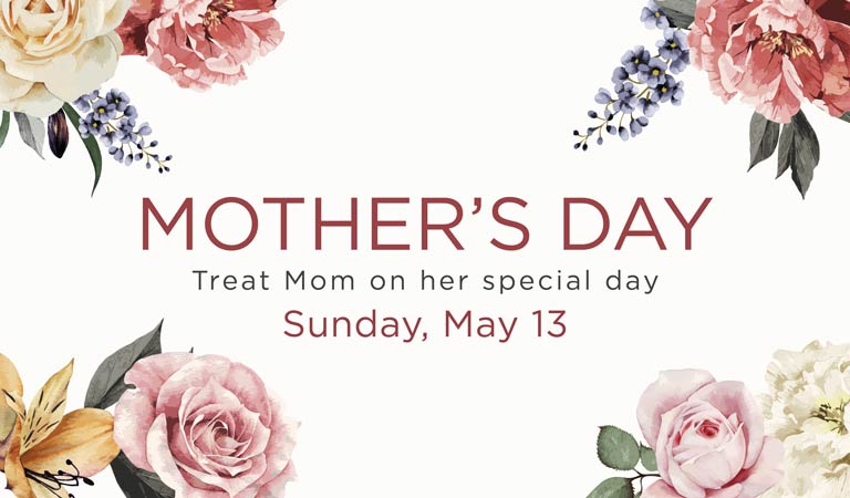 Mother's Day Specials for Brunch Dinner and Cocktails, Downtown LA and San Francisco