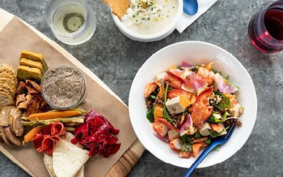 Salad & Charcuterie Board