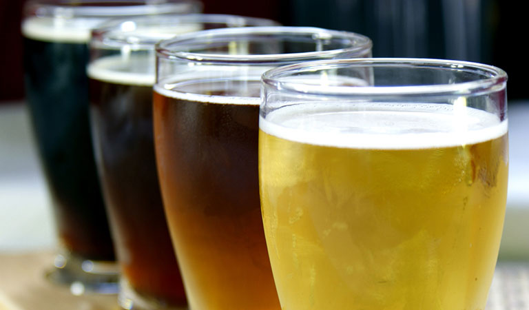 Selection of brews at The Beer Bar